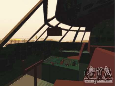 Il-76td Gazpromavia for GTA San Andreas side view