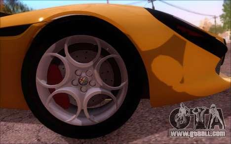 Alfa Romeo TZ3 2011 for GTA San Andreas inner view