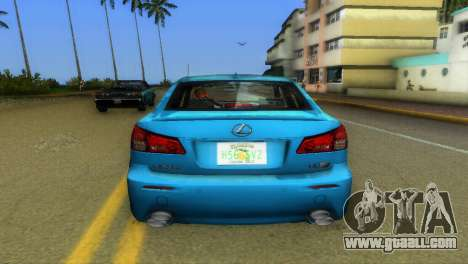 Lexus IS-F for GTA Vice City back view
