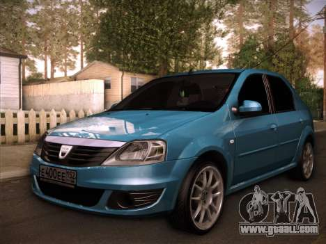 Dacia Logan GrayEdit for GTA San Andreas