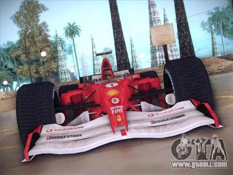 Ferrari F1 2005 for GTA San Andreas inner view