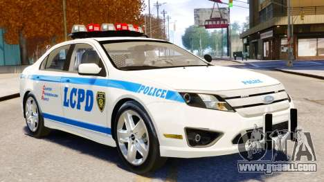 Ford Fusion LCPD 2011 [ELS] for GTA 4