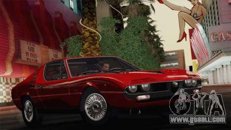 Alfa Romeo Montreal (105) 1970 for GTA San Andreas side view