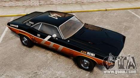 Dodge Challenger 1971 v2 for GTA 4 side view