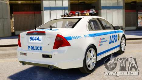 Ford Fusion LCPD 2011 [ELS] for GTA 4 left view