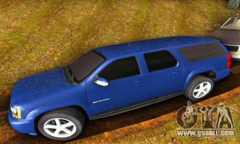 Chevrolet Suburban 2008 for GTA San Andreas back left view