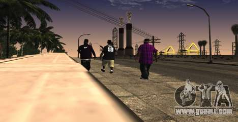 HQ SkinPack Ballas for GTA San Andreas third screenshot