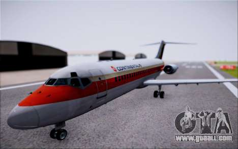 McDonnel Douglas DC-9-10 for GTA San Andreas back left view