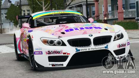 BMW Z4 GT3 2010 for GTA 4 left view