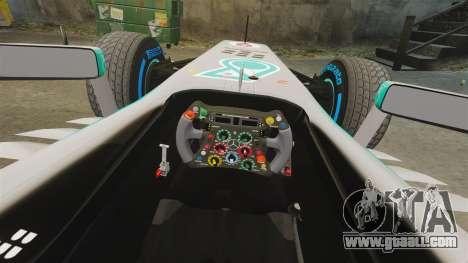 Mercedes AMG F1 W04 v6 for GTA 4 inner view