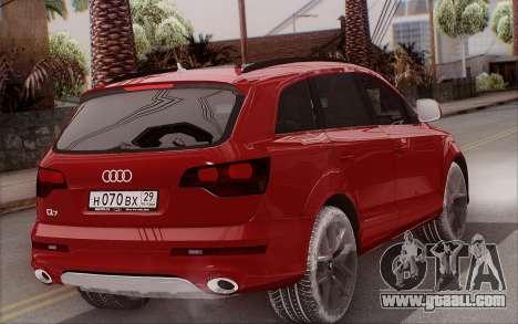 Audi Q7 Winter for GTA San Andreas left view