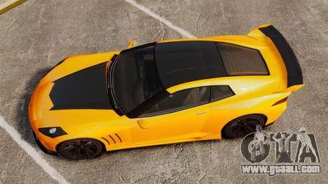 GTA V Inuetero Coquette Hardtop DTD for GTA 4 right view