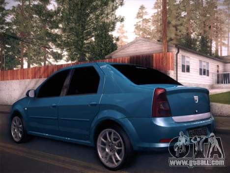 Dacia Logan GrayEdit for GTA San Andreas left view