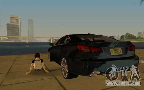 Lexus IS-F for GTA Vice City upper view