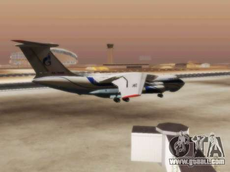 Il-76td Gazpromavia for GTA San Andreas right view