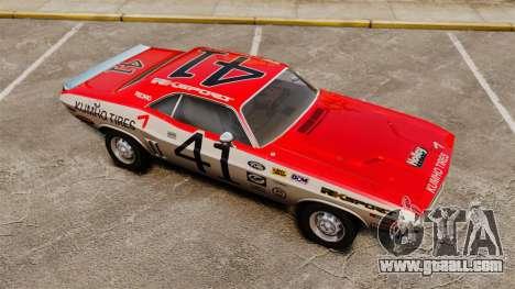 Dodge Challenger 1971 v1 for GTA 4 bottom view