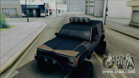 Jeep Cherokee 1984 Sandking for GTA San Andreas inner view