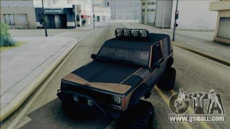 Jeep Cherokee 1984 Sandking for GTA San Andreas inner view