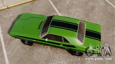Dodge Challenger 1971 v2 for GTA 4 right view