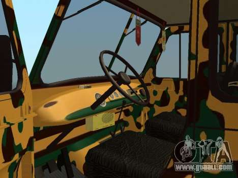 UAZ 469 Camo for GTA San Andreas back view