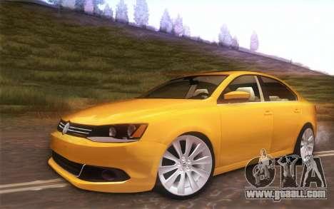 Volkswagen Vento 2012 for GTA San Andreas back view