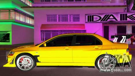 Mitsubishi Lancer Evolution VIII Type 8 for GTA Vice City left view