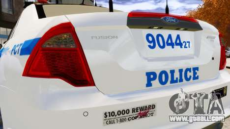 Ford Fusion LCPD 2011 [ELS] for GTA 4 side view