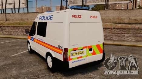 Ford Transit 2013 Police [ELS] for GTA 4 back left view