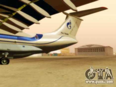 Il-76td Gazpromavia for GTA San Andreas back left view