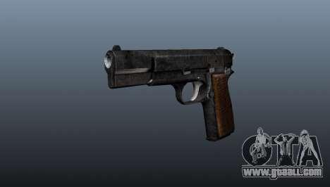 Self-loading pistol Browning Hi-Power for GTA 4