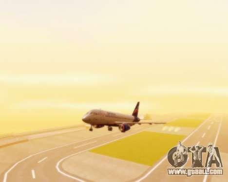 Sukhoi Superjet 100-95 Aeroflot for GTA San Andreas back view