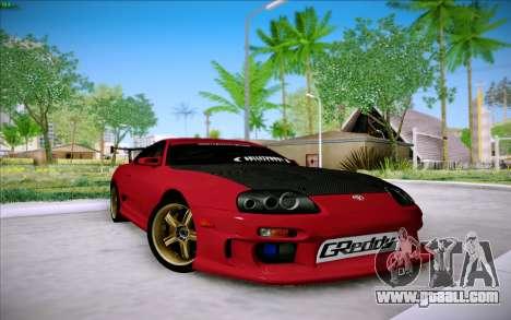 Toyota Supra RZ 1998 Drift for GTA San Andreas