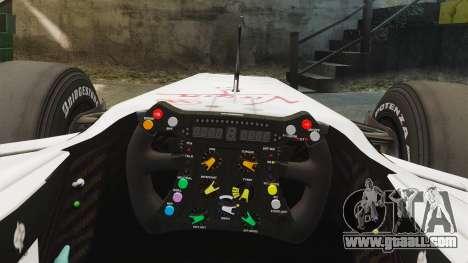 Brawn BGP 001 2009 for GTA 4 back view