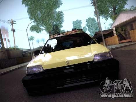 Honda Civic Si 1986 for GTA San Andreas back view