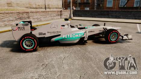 Mercedes AMG F1 W04 v6 for GTA 4 left view