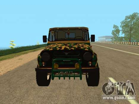 UAZ 469 Camo for GTA San Andreas right view
