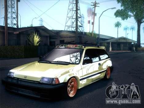 Honda Civic Si 1986 for GTA San Andreas