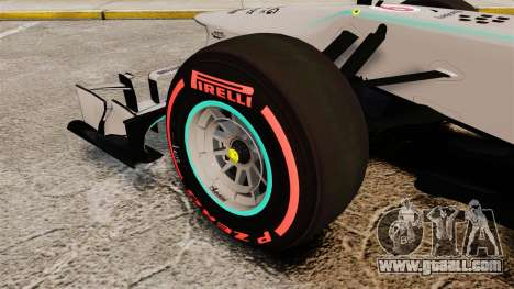 Mercedes AMG F1 W04 v6 for GTA 4 back view