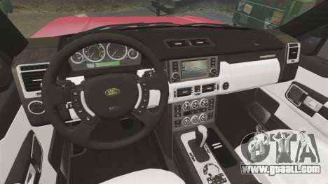 Range Rover TDV8 Vogue for GTA 4 inner view