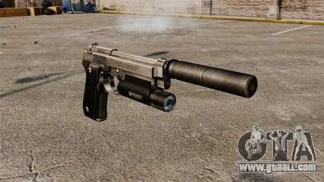 Beretta 92 semi-automatic pistol with silencer for GTA 4