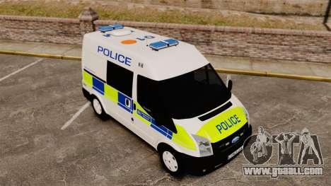 Ford Transit 2013 Police [ELS] for GTA 4 upper view