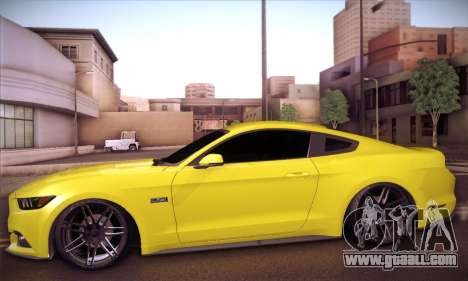 Ford Mustang 2015 Swag for GTA San Andreas back left view