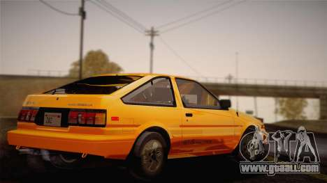 Toyota Corolla GT-S AE86 1985 for GTA San Andreas left view