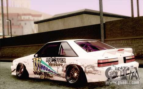 Ford Mustang SVT Cobra 1993 Drift for GTA San Andreas left view