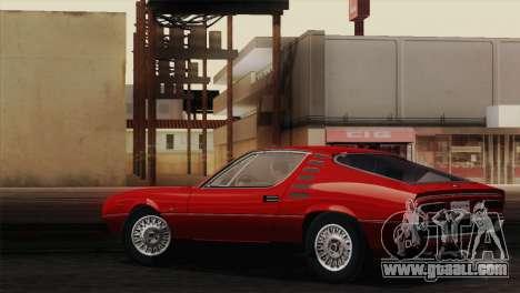 Alfa Romeo Montreal (105) 1970 for GTA San Andreas inner view