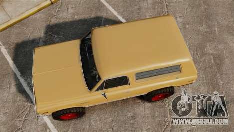 Chevrolet Blazer K5 1972 for GTA 4 right view