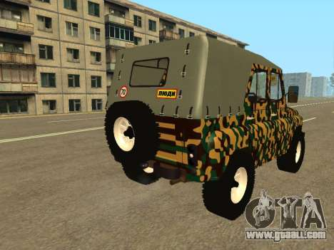 UAZ 469 Camo for GTA San Andreas back left view