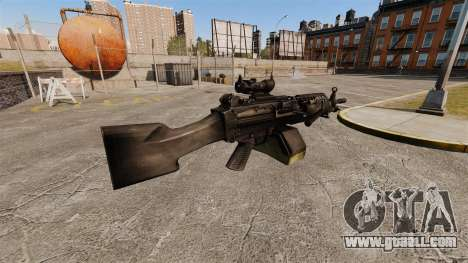 FN Mk 46 light machine gun for GTA 4 second screenshot