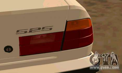 BMW 525 for GTA San Andreas back view