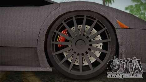 Lamborghini Murcielago GT Carbone for GTA San Andreas back view
